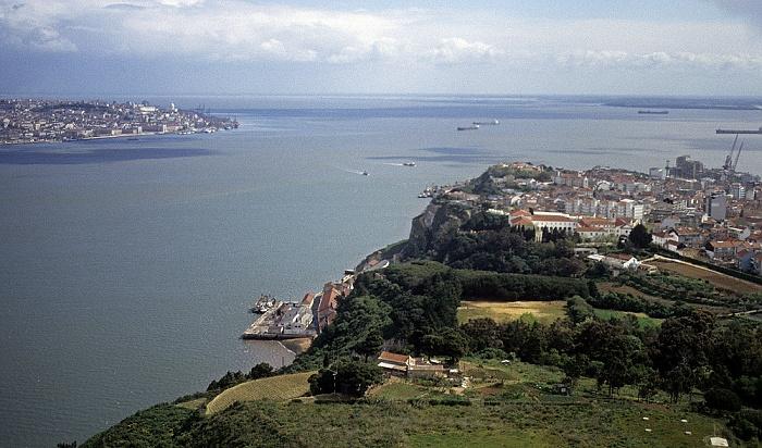 Blick vom Monumento Cristo Rei: Lissabon, Tejo, Almada Lissabon 1988