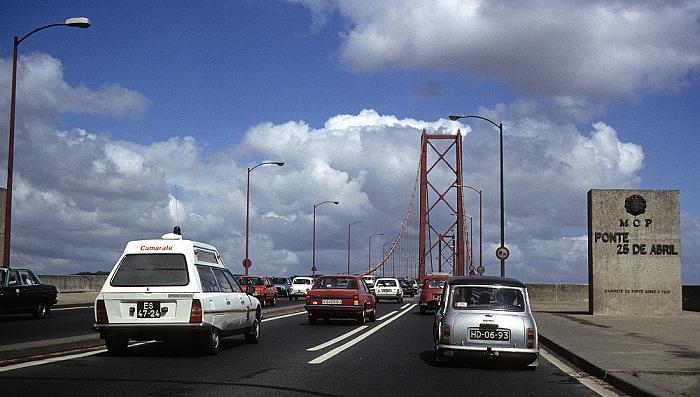 Ponte 25 de Abril Lissabon 1988