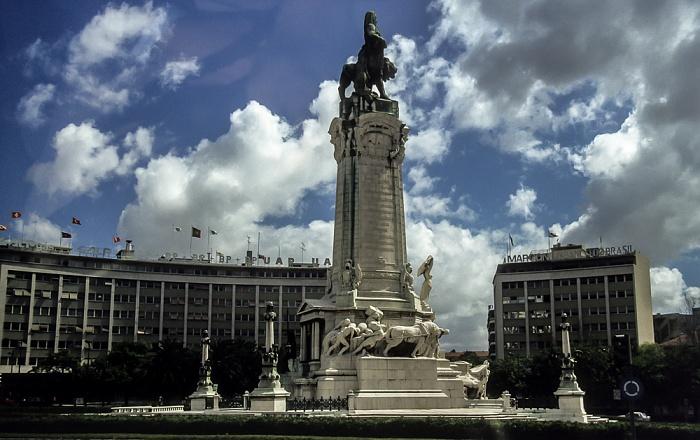 Praça Marquês de Pombal: Statue des Marquês de Pombal Lissabon 1988