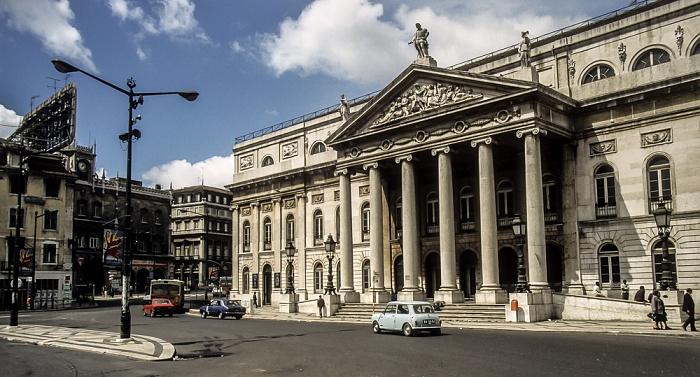 Baixa: Rossio (Praça de D. Pedro IV.) - Teatro Nacional D. Maria II Lissabon 1988