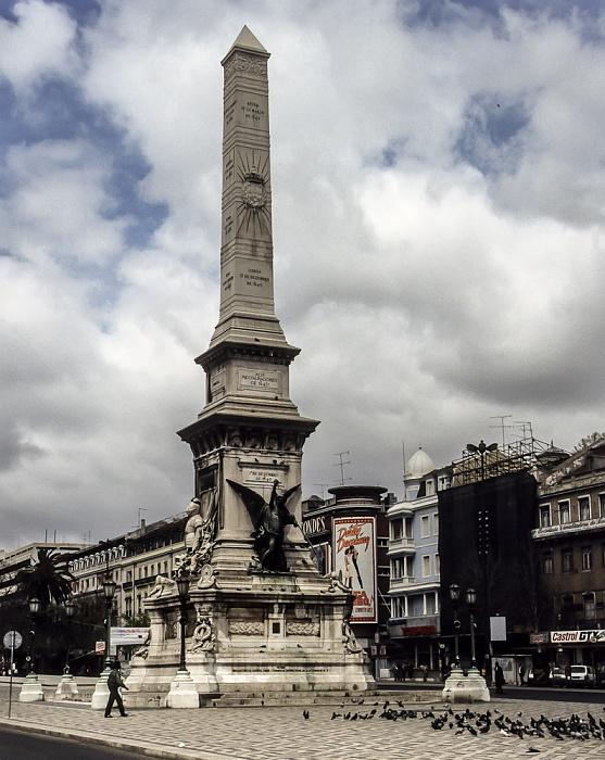 Baixa: Praça dos Restauradores - Obelisk Lissabon 1988