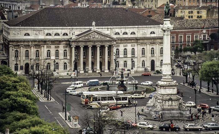 Blick vom Elevador de Santa Justa: Baixa Lissabon 1988