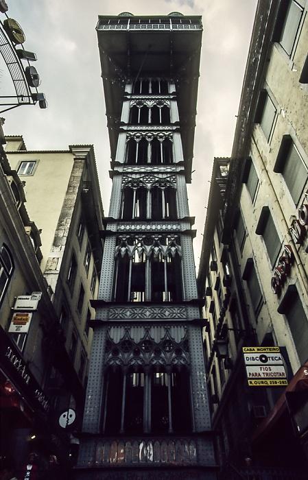 Biaxa: Elevador de Santa Justa Lissabon 1988