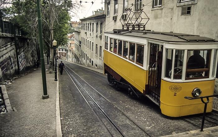 Calçada da Glória: Elevador da Glória Lissabon 1988