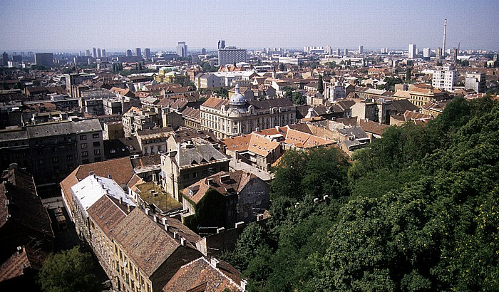 Zagreb Blick vom Lotrscak-Turm: Stadtzentrum
