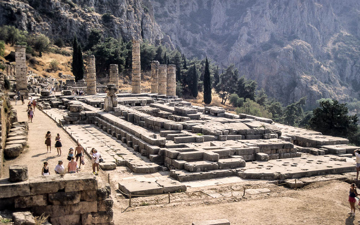 Heiliger Bezirk von Delphi: Apollon-Tempel