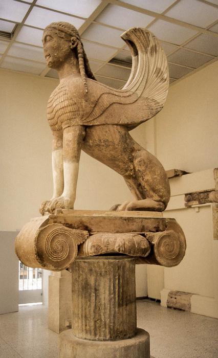 Archäologisches Museum Delphi: Sphinx der Naxier