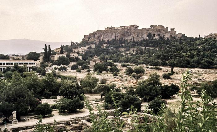 Antike Agora von Athen, Akropolis Athen 1988