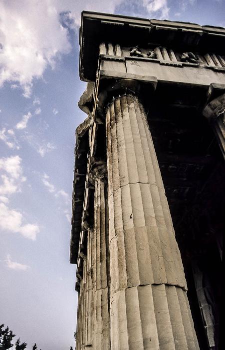 Antike Agora von Athen: Tempel des Hephaistos (Hephaisteion) Athen 1988