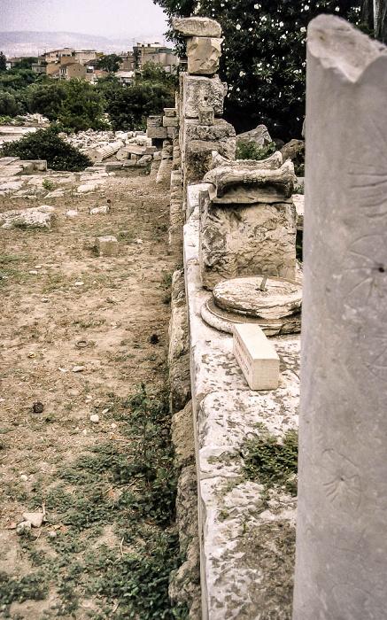 Antike Agora von Athen Athen 1988