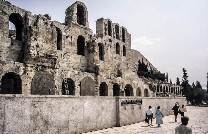 Akropolis: Odeon des Herodes Atticus Athen 1988