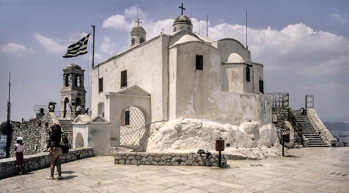 Lykabettus (Lykavittós): Sankt-Georgs-Kapelle Athen 1988