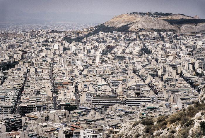Blick vom Lykabettus (Lykavittós) Athen 1988