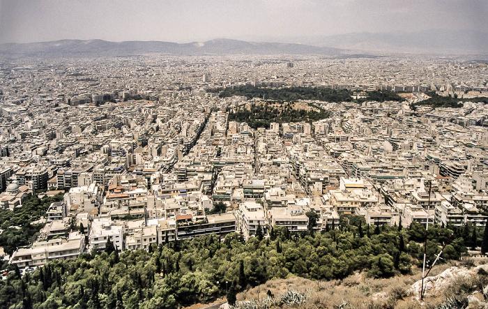 Athen Blick vom Lykabettus (Lykavittós)