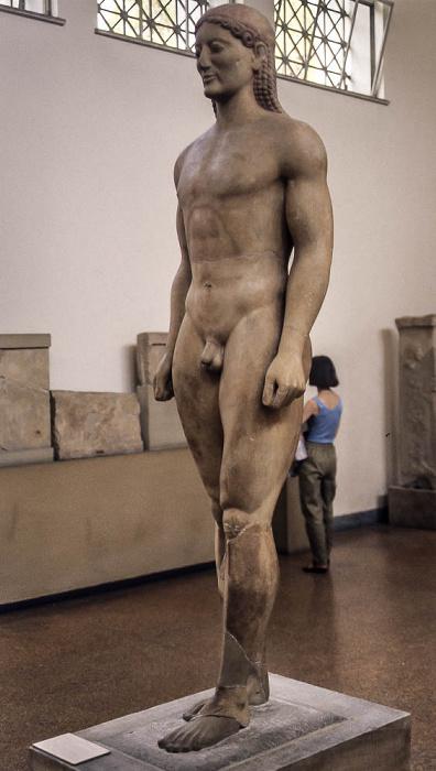 Athen Archäologisches Nationalmuseum: Kroisos-Kouros (Kouros von Anavyssos)