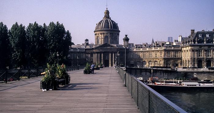 Pont des Arts, Seine, Institut de France Paris 1988