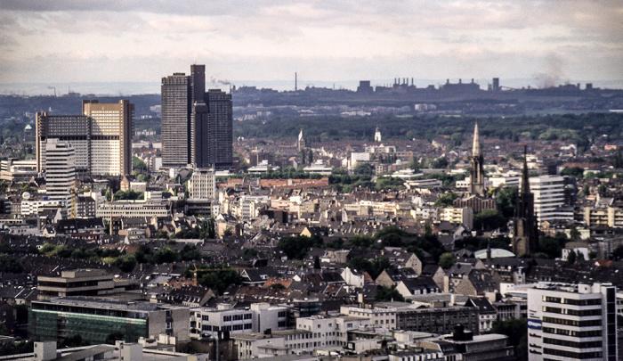 Blick vom Kölner Dom Köln 1988