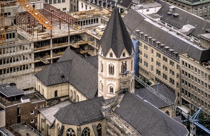 Blick vom Kölner Dom: Dominikanerkirche St. Andreas Köln 1988