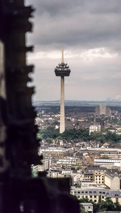Blick vom Kölner Dom: Fernmeldeturm Colonius Köln 1988