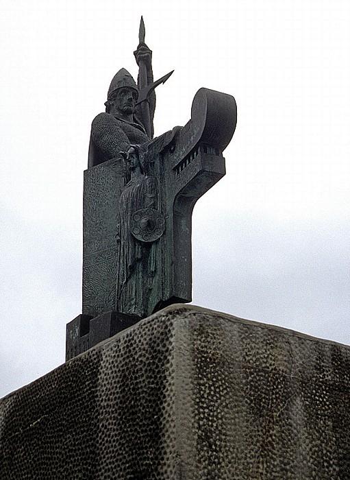 Reykjavik Hügel Arnarhóll: Statue des ersten Siedlers Ingólfur Arnarson
