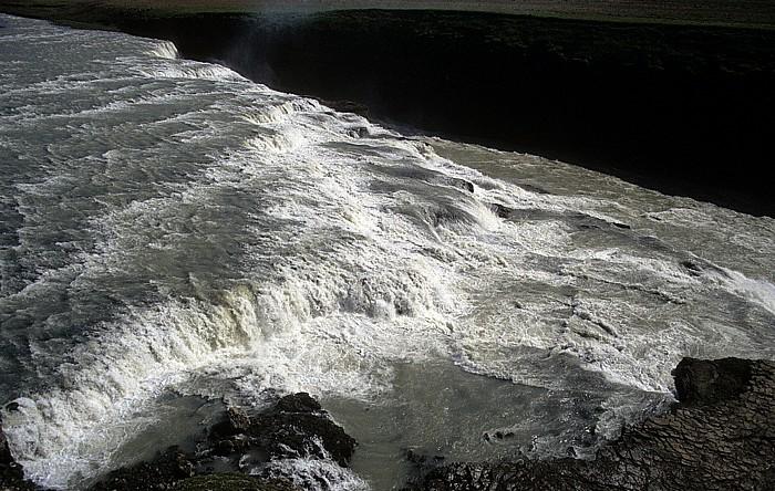 Haukadalur Wasserfall Gullfoss des Flusses Hvítá Hvítá (Árnessýsla)