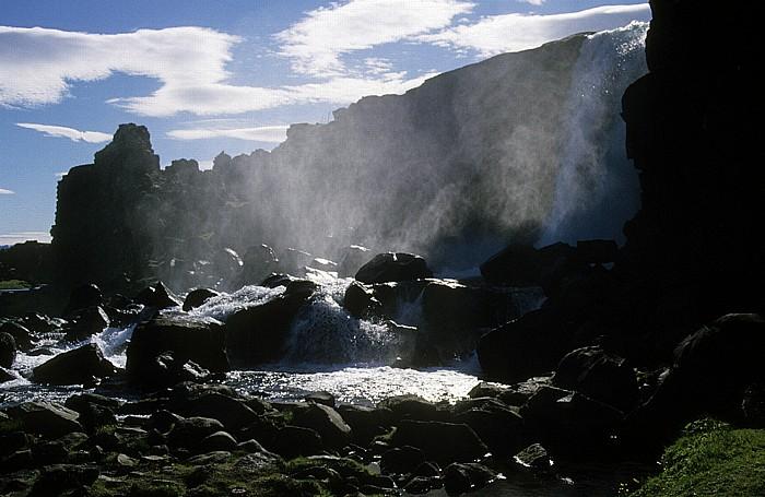 Thingvellir National Park Thingvellir: Öxarárfoss