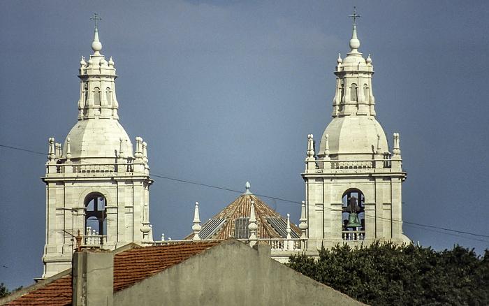 Alfama: Türme der Igreja de São Vicente de Fora Lissabon 1990