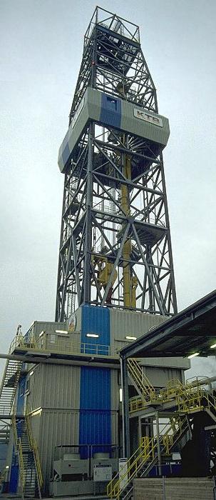 Windischeschenbach Kontinentales Tiefbohrprogramm: Bohrturm