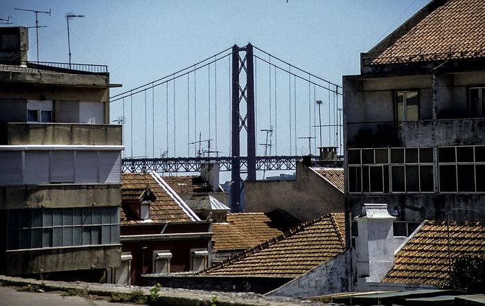 Alcântara: Ponte 25 de Abril Lissabon 1992