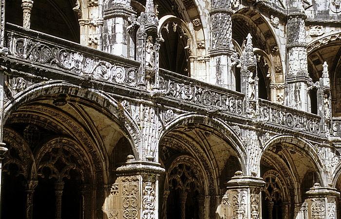 Belém: Mosteiro dos Jerónimos - Kreuzgang Lissabon 1992