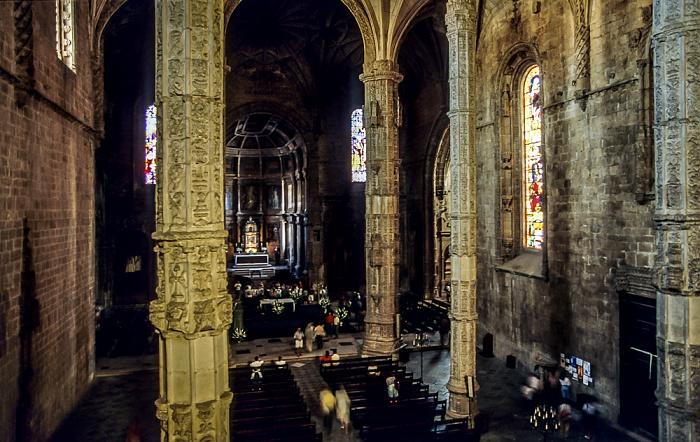 Belém: Mosteiro dos Jerónimos - Igreja Santa Maria Belém Lissabon 1992