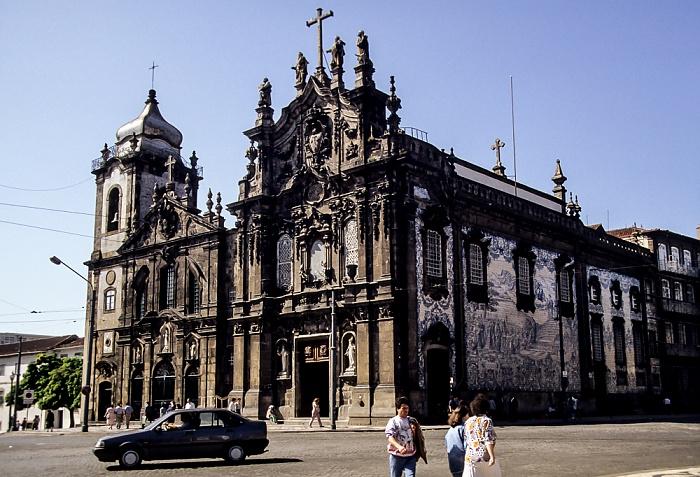 Altstadt: Rua do Carmo - Igreja do Carmo (links) / Igreja dos Carmelitas Porto 1992