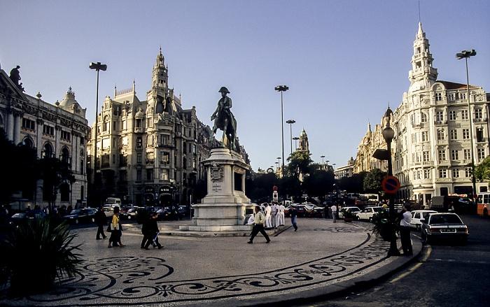 Altstadt: Praça da Liberdade mit dem Monumento a D. Pedro IV Porto 1992