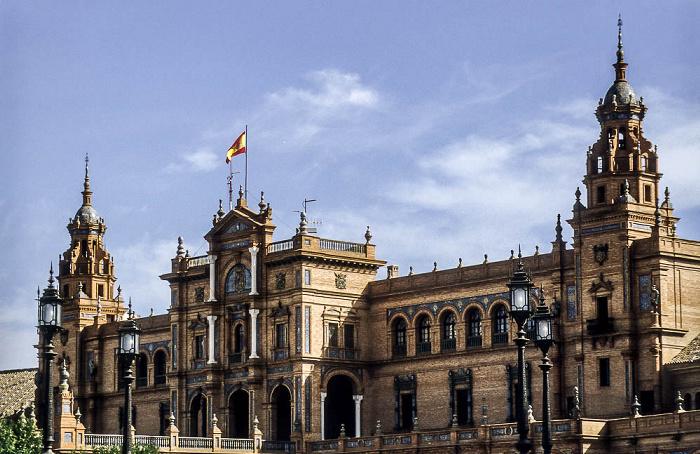Parque de María Luisa: Plaza de España Sevilla 1992