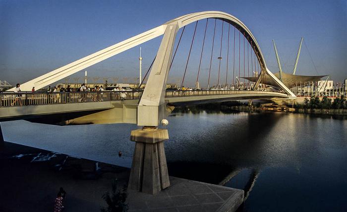 Sevilla EXPO '92: Barqueta-Brücke zum Ausstellungsgelände