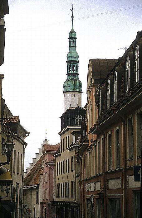 Altstadt: Unterstadt - Langstraße (Pikk tänav), Heiliggeistkirche (Püha Vaimu kirik) Tallinn 1993