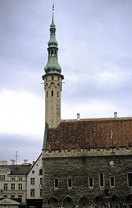 Altstadt: Unterstadt - Tallinner Rathaus (Tallinna raekoda) Tallinn 1993