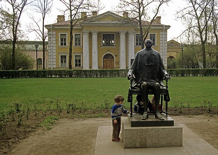 Sankt Petersburg Peter-und-Paul-Festung: Statue von Peter I. der Große Hauptwache