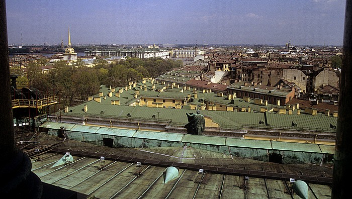 Sankt Petersburg Blick von der Isaakskathedrale Admiralität Alexandersäule Eremitage Palastplatz Peter-und-Paul-Kathedrale Stabsgebäude der Garderegimenter