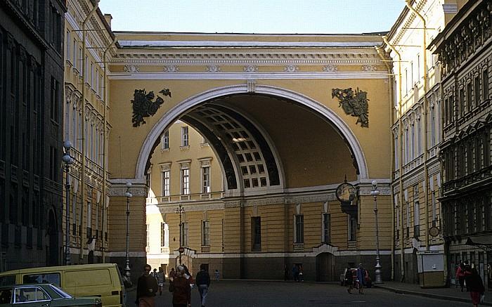 Sankt Petersburg Generalstabsgebäude Newski-Prospekt Palastplatz