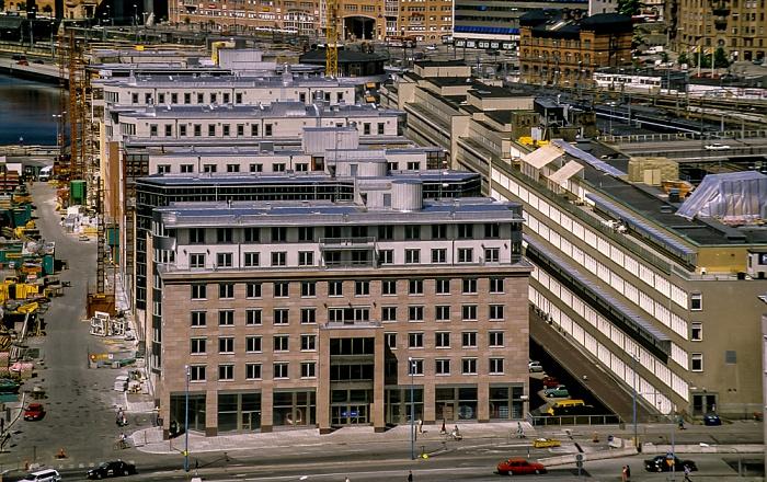 Blick vom Stadshuset (Rathaus): Norrmalm Stockholm 1993