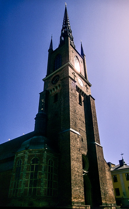 Altstadt Gamla stan: Riddarholmen - Riddarholmskyrkan (Riddarholmskirche) Stockholm 1993