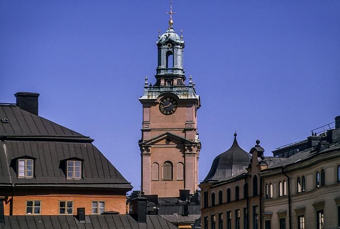 Altstadt Gamla stan: Storkyrkobrinken - Sankt Nikolai kyrka (Storkyrkan) Stockholm 1993