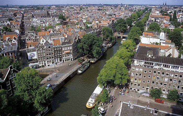 Blick von der Westkirche: Prinzengracht Amsterdam