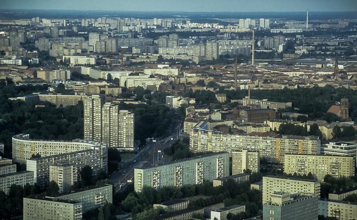 Blick vom Fernsehturm: Friedrichshain Berlin 1994