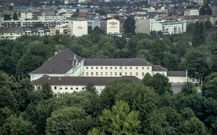 Blick von der Siegessäule: Großer Tiergarten, Schloss Bellevue Berlin 1994