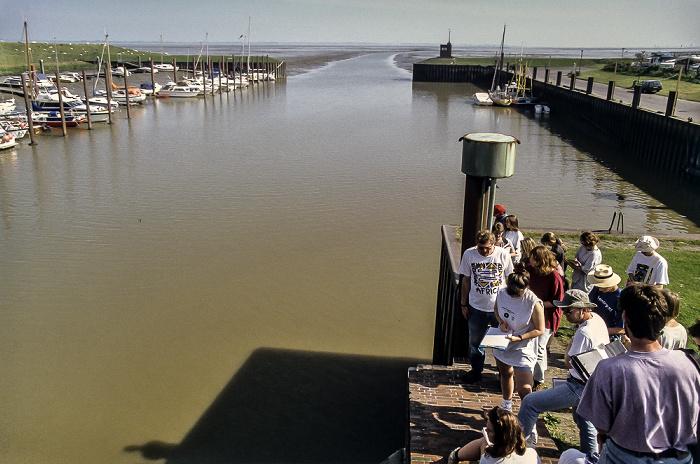 Siel: Blick auf das Dangaster Außentief Wattenmeer