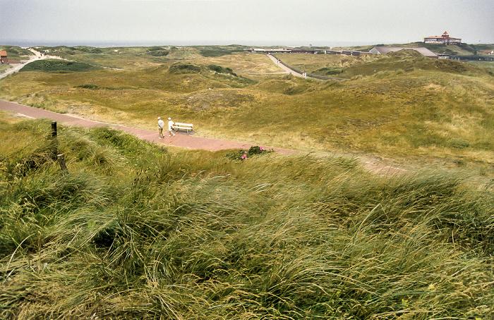 Langeoog Blick vom Fuß des Wasserturm Richtung Norden