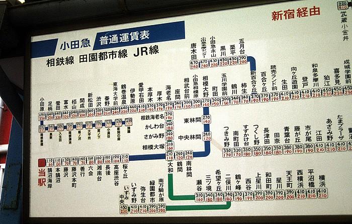 Bahnhof Katase-Enoshima: Plan der Tokioter Vorortbahnen Enoshima