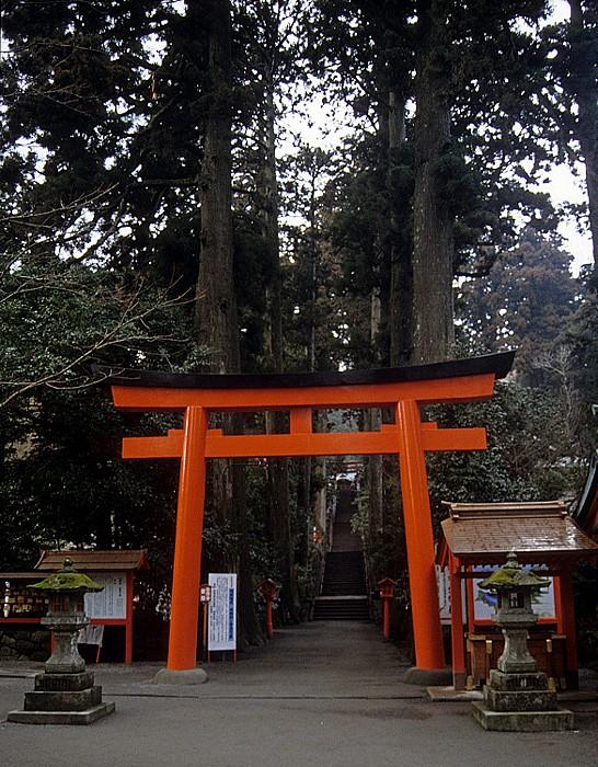 Fuji-Hakone-Izu-Nationalpark Torii des Hakone-Schreins
